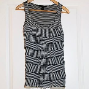 White House Black Market Tiered Tank Top